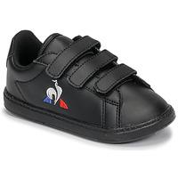 Zapatos Niños Zapatillas bajas Le Coq Sportif COURTSET INF Negro