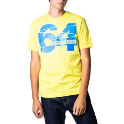 textil Hombre Camisetas manga corta Dsquared S71GD0764 Giallo