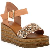 Zapatos Mujer Sandalias Sono Italiana VACCHETTA GLITTER Grigio