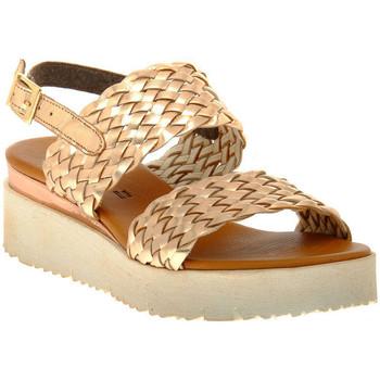 Zapatos Mujer Sandalias Sono Italiana LAMINATO RAME Marrone