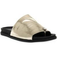 Zapatos Mujer Zuecos (Mules) Sono Italiana LAMINATO PLATINO Grigio