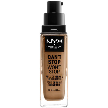 Belleza Mujer Base de maquillaje Nyx Can't Stop Won't Stop Full Coverage Foundation caramel