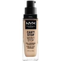 Belleza Mujer Base de maquillaje Nyx Can't Stop Won't Stop Full Coverage Foundation nude
