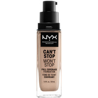 Belleza Mujer Base de maquillaje Nyx Can't Stop Won't Stop Full Coverage Foundation porcelain