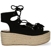 Zapatos Mujer Sandalias Luna Collection SANDALIA ATADA  CLOE 20008 NEGRO Negro