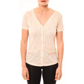 textil Mujer Camisetas manga corta Meisïe Top 50-608SP15 Beige Beige