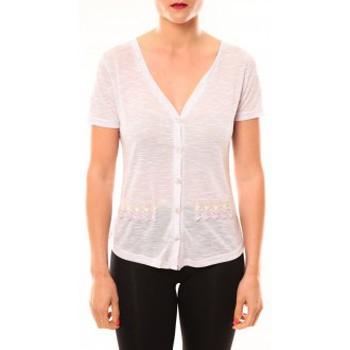textil Mujer Camisetas manga corta Meisïe Top 50-608SP15 Lavande Violeta