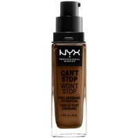 Belleza Mujer Base de maquillaje Nyx Can't Stop Won't Stop Full Coverage Foundation walnut