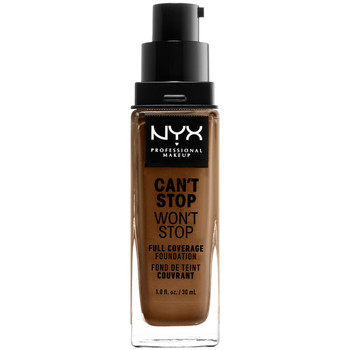 Belleza Mujer Base de maquillaje Nyx Can't Stop Won't Stop Full Coverage Foundation sienna