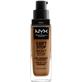 Belleza Mujer Base de maquillaje Nyx Can't Stop Won't Stop Full Coverage Foundation nutmeg