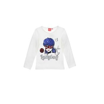 textil Niña Camisetas manga larga TEAM HEROES MIRACULOUS LADYBUG Blanco