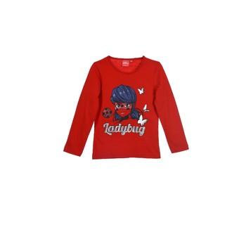 textil Niña Camisetas manga larga TEAM HEROES MIRACULOUS LADYBUG Rojo