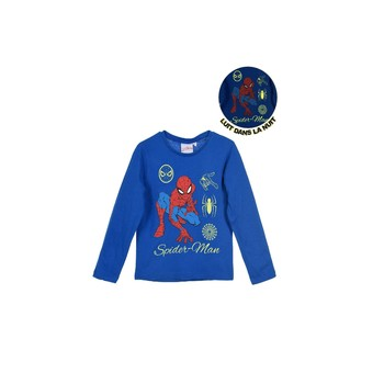 textil Niño Camisetas manga larga TEAM HEROES SPIDERMAN Azul