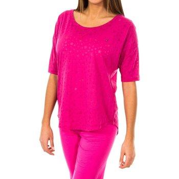 textil Mujer Polos manga larga Tommy Hilfiger Camiseta Tommy Hilfiger Rosa