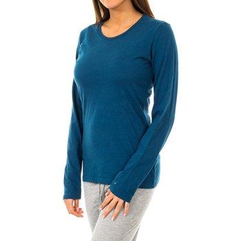 textil Mujer Camisetas manga larga Tommy Hilfiger Camiseta Tommy Hilfiger Azul