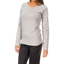 textil Mujer Camisetas manga larga Tommy Hilfiger Camiseta M/Larga Tommy Hilfiger Gris