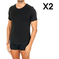 textil Hombre Camisetas manga corta Tommy Hilfiger Pack-2 Camiseta Interior Tommy H. Negro