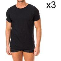 textil Hombre Camisetas manga corta Tommy Hilfiger Pack-3 Camiseta Interior Tommy H. Negro