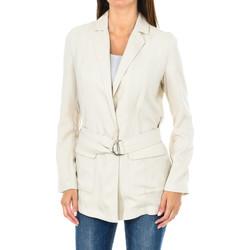 textil Mujer Chaquetas / Americana Armani jeans Blazer con cinturón Beige