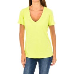 textil Mujer camisetas manga corta Armani jeans Camiseta manga corta Amarillo