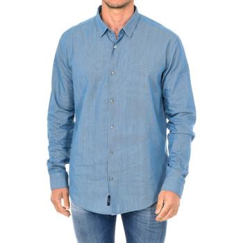 textil Hombre Camisas manga larga Armani jeans Camisa manga larga Azul
