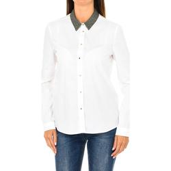 textil Mujer Camisas Armani jeans Camisa de manga larga Blanco
