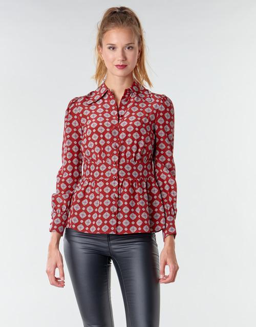 textil Mujer Tops / Blusas MICHAEL Michael Kors LUX PINDOT MED TOP Burdeo