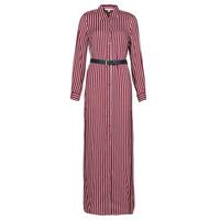 textil Mujer Vestidos largos MICHAEL Michael Kors WARM PLAYFL SHIRT DR Burdeo / Blanco / Marino