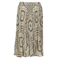 textil Mujer Faldas MICHAEL Michael Kors MEDALLION PLTED SKIRT Multicolor