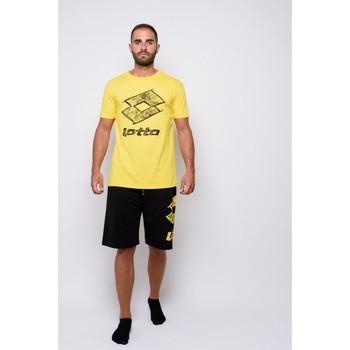 textil Hombre Camisetas manga corta Lotto Camiseta de media manga  (ltu035-amarillo) Amarillo