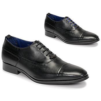 Zapatos Hombre Richelieu Azzaro LITCHI Negro