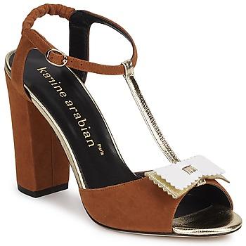 Zapatos Mujer Sandalias Karine Arabian ABBAZIA Arena / Blanco / Dorado