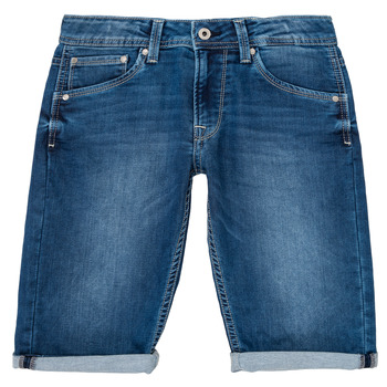 textil Niño Shorts / Bermudas Pepe jeans CASHED SHORT Azul