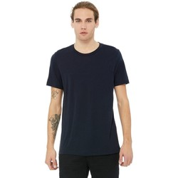 textil Hombre Camisetas manga corta Bella + Canvas CA3413 Marino Sólido Triblend