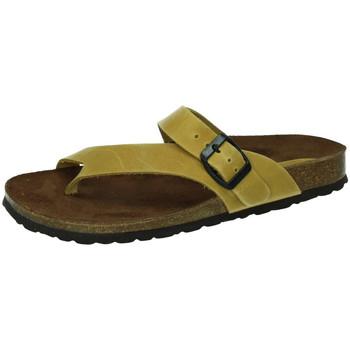 Zapatos Mujer Zuecos (Mules) Interbios Chancla esclava bios MOSTAZA
