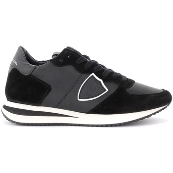 Zapatos Mujer Zapatillas bajas Philippe Model Zapatilla Tropez X de piel y suede negro Negro