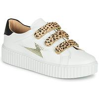 Zapatos Mujer Zapatillas bajas Vanessa Wu BASKETS À SCRATCHS ANIMALIER Blanco / Leopardo