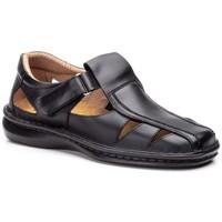 Zapatos Hombre Sandalias Cactus Calzados Sandalias de hombre de piel by Cactus Noir
