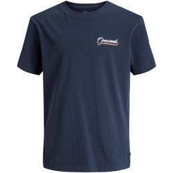 textil Niño camisetas manga corta Jack & Jones 12168910 JORFLEXX TEE SS CREW NECK JR NAVY BLAZER Azul marino