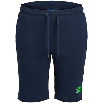 textil Niño Shorts / Bermudas Jack & Jones 12173262 JJIBOB JJSWEAT SHORTS IMP JR NAVY BLAZER Azul marino