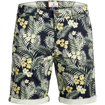 textil Niño Shorts / Bermudas Jack & Jones 12169368 JJIBOWIE JJSHORTS PRINT SA JR NAVY BLAZER Azul marino