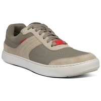Zapatos Hombre Zapatillas bajas FitFlop CALEB LEATHER SNEAKERS - TIMBERWOLF TIMBERWOLF