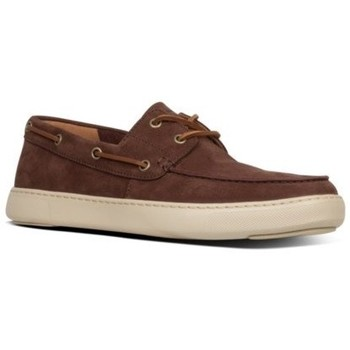 Zapatos Hombre Zapatos náuticos FitFlop LAWRENCE BOAT SHOES - CHOCOLATE BROWN CHOCOLATE BROWN