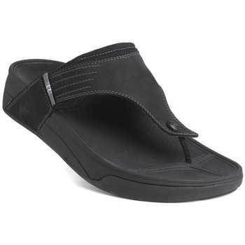 Zapatos Hombre Chanclas FitFlop Dass TM - black nubuck (leather) black nubuck (leather)