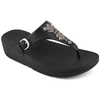Zapatos Mujer Chanclas FitFlop SKINNY TM TOE-THONG SANDALS CRYSTAL - BLACK BLACK