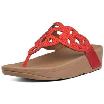 Zapatos Mujer Chanclas FitFlop ELORA CRYSTAL TOE THONGS - RED RED