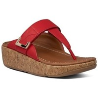 Zapatos Mujer Chanclas FitFlop REMI ADJUSTABLE TOE THONGS - RED RED
