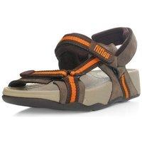 Zapatos Niños Sandalias FitFlop Hyker TM boy - chocolate/orange (leather) chocolate/orange (leather)