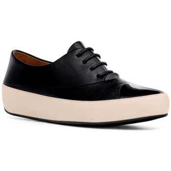 Zapatos Mujer Derbie FitFlop DUE TM OXFORD LEATHER  - BLACK BLACK
