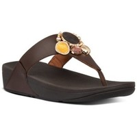 Zapatos Mujer Chanclas FitFlop LULU CLUSTER TOE THONGS - CHOCOLATE BROWN CHOCOLATE BROWN